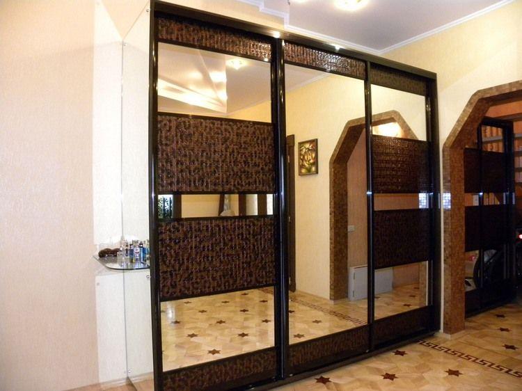 Шкафы купе с экокожей дизайн